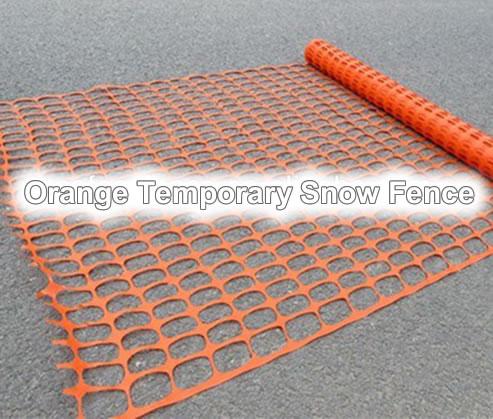 Orange Temporary Snow Fence