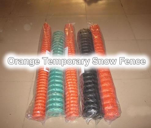 Temporary Snow Fence Barrier Netting Plastic Wire Mesh